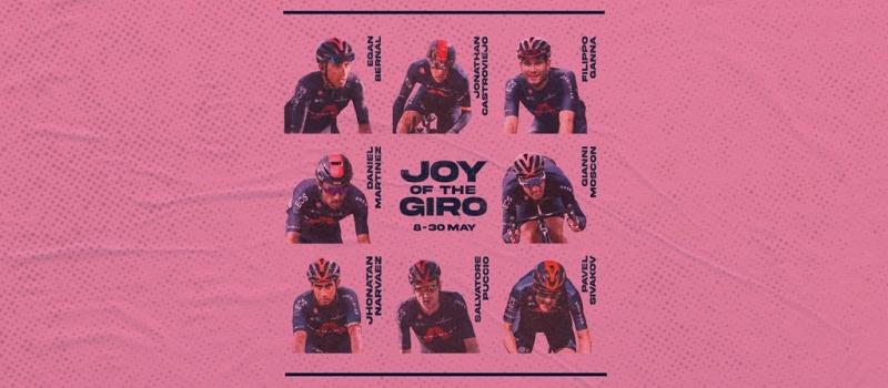 Эган Берналь и Павел Сиваков – лидеры команды Ineos Grenadiers на Джиро д'Италия-2021