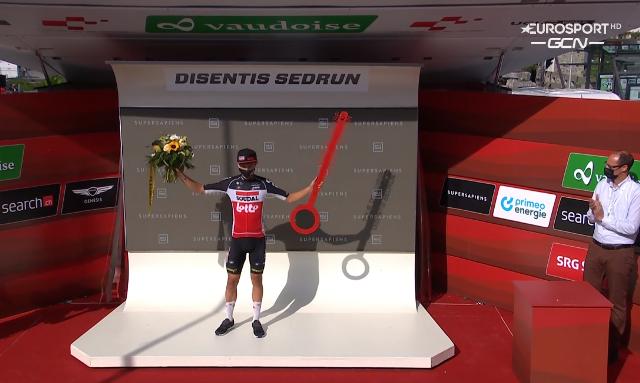 Андреас Крон – победитель 6 этапа Тура Швейцарии-2021 после релегации Руя Кошты