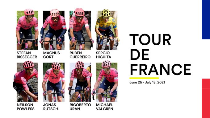 Состав велокоманды EF Education Nippo на Тур де Франс-2021