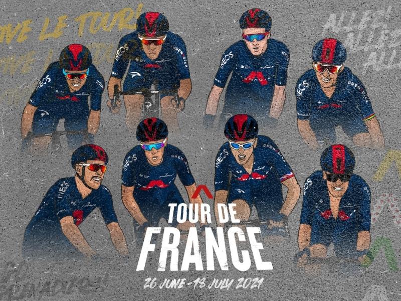 Состав команды Ineos Grenadiers на Тур де Франс-2021