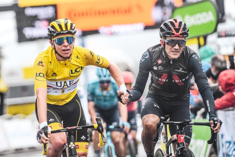 """Тадей Погачар: """"Хорошо размялись перед 17-м этапом Тур де Франс-2021"""""""