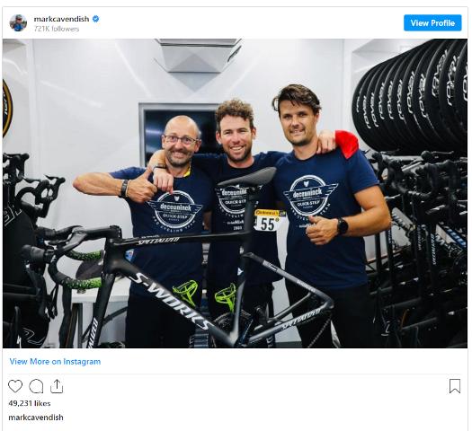 Марк Кэвендиш объяснил причины инцидента с механиком перед 19 этапом Тур де Франс-2021