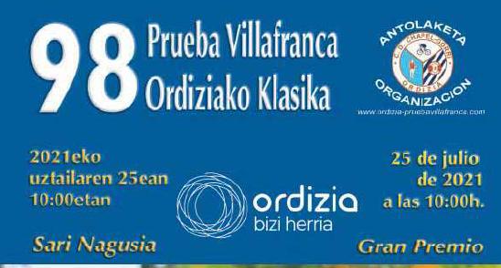 Prueba Villafranca - Ordiziako Klasika
