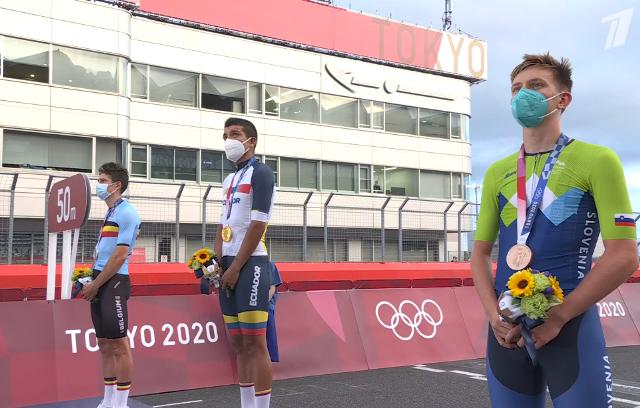 Тадей Погачар - бронзовый призёр групповой гонки на Олимпиаде в Токио