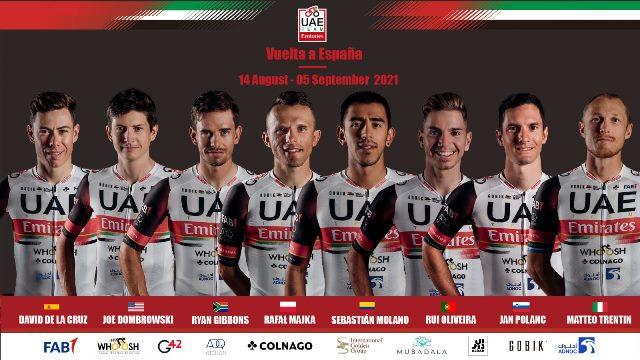 Состав велокоманды UAE Team Emirates на Вуэльту Испании-2021