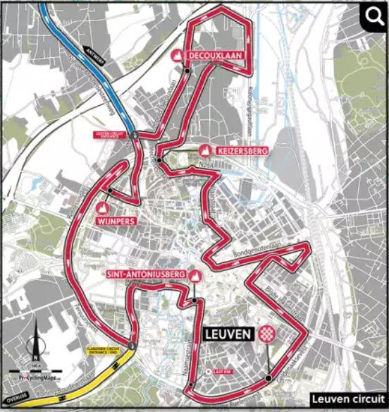 Чемпионат мира по шоссейному велоспорту-2021 во Фландрии. Профили и составы на групповую гонку