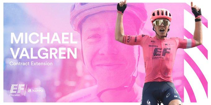 Михаэль Вальгрен продлил контракт с велокомандой EF Education Nippo