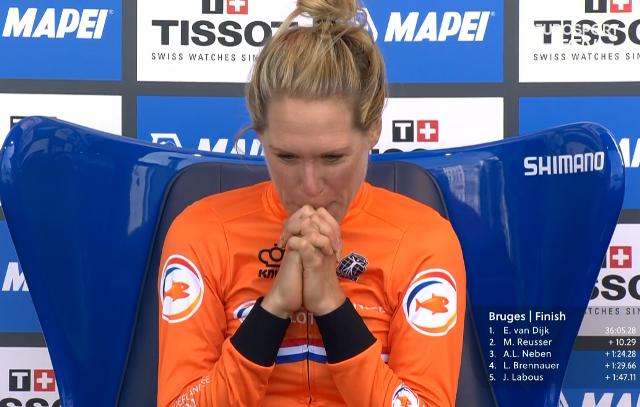 Эллен ван Дейк – чемпионка мира-2021 в индивидуальной гонке на время