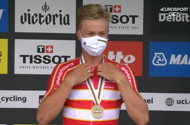Михаэль Вальгрен – бронзовый призёр групповой гонки чемпионата мира по велоспорту-2021