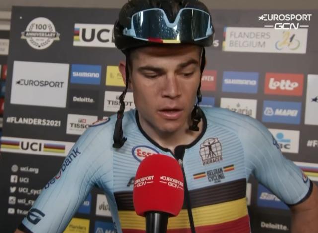 Ваут ван Арт и Яспер Стёйвен о групповой гонке чемпионата мира по велоспорту-2021